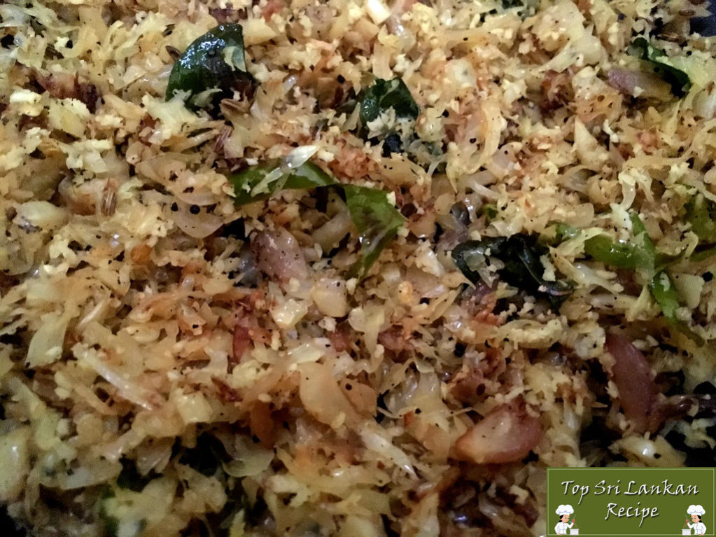 Cabbage Curry Sri Lankan Recipe With Grated Coconut