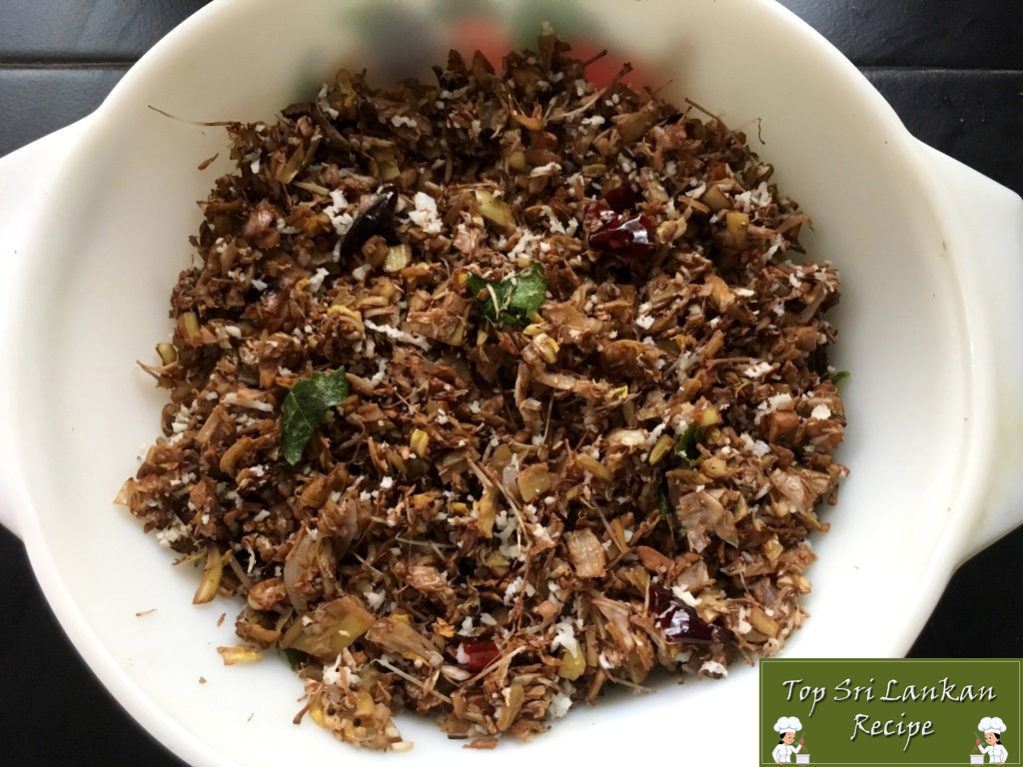 Banana Flower Recipe With Grated Coconut   Vazhaipoo Fry
