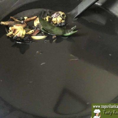 Squid Ink Recipe   Kanava Sothi   Cuttlefish Ink Cook Sri Lanka