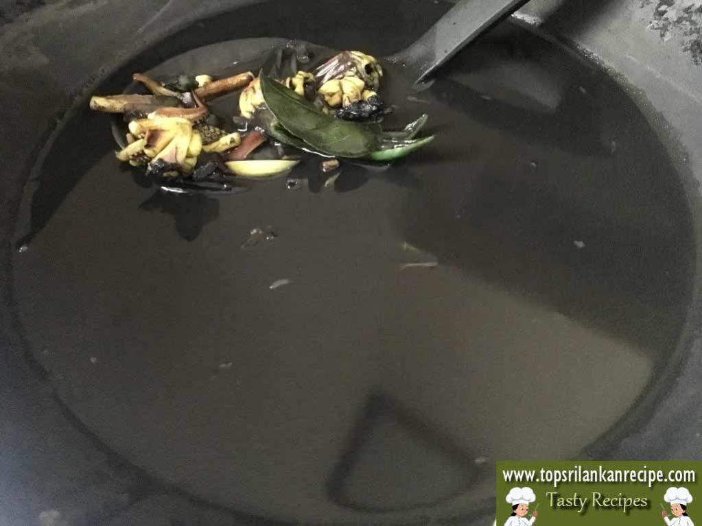 Squid Ink Recipe | Kanava Sothi | Cuttlefish Ink Cook Sri Lanka