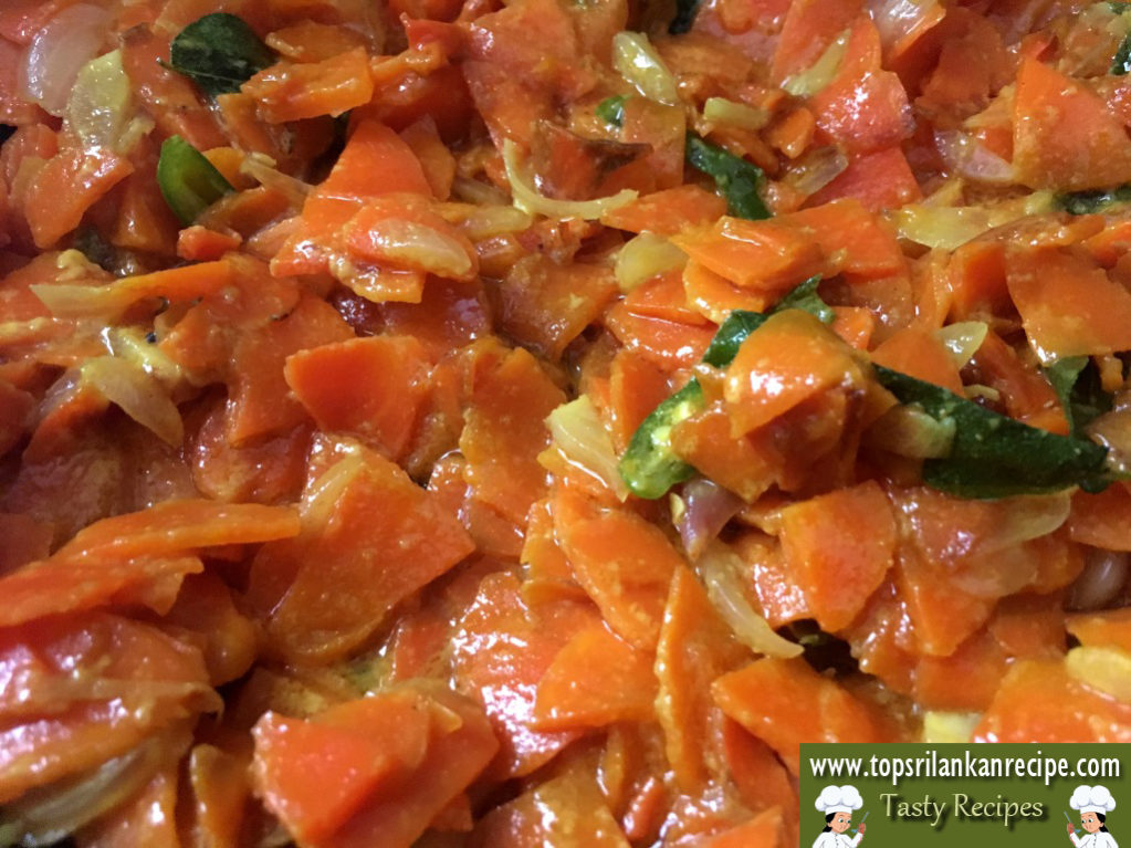 Easy Carrot Curry Recipe For Rice With Coconut Milk Sri Lankan Dish