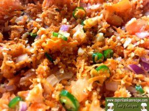 Tomato Carrot And Onion Salad | Sri Lankan Carrot Sambol Recipe Easy
