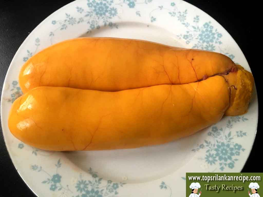 Easy Fish Egg Fry Recipe Sri Lankan | Grey Mullet Fish Egg Fry